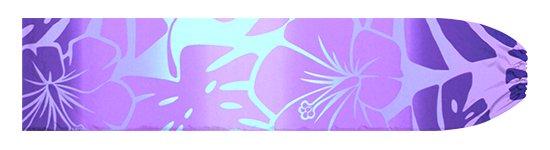 紫のパウスカートケース ハイビスカス・モンステラ・グラデーション柄 pcase-2769PP【メール便可】★オーダーメイド