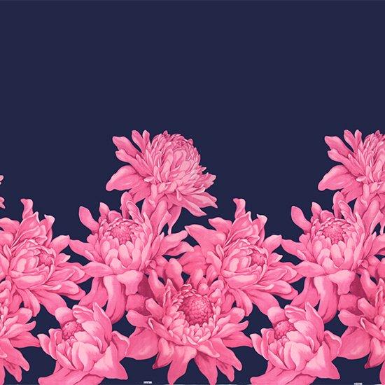 ピンクのハワイアンファブリック トーチジンジャー大柄 fab-2776PiBL 【4yまでメール便可】