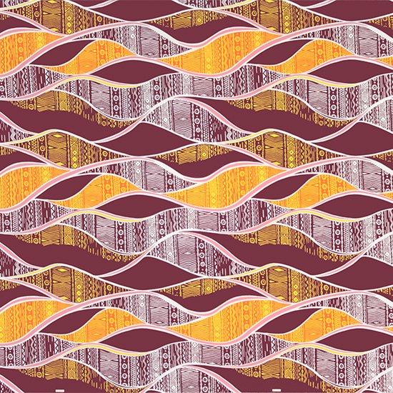 紫のハワイアンファブリック カヒコ柄 fab-2772PP 【4yまでメール便可】