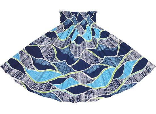 青のパウスカート カヒコ柄 spau-2772BL