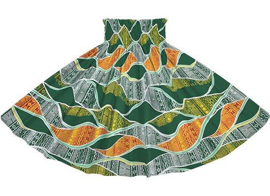 緑のパウスカート カヒコ柄 spau-2772GN