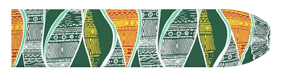 緑のパウスカートケース カヒコ柄 pcase-2772GN【メール便可】★オーダーメイド