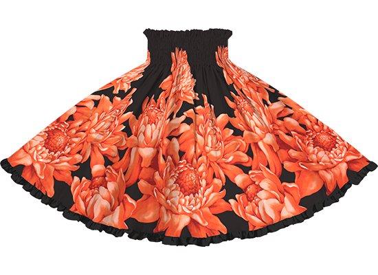 【リヒリヒパウスカート】 赤のパウスカート トーチジンジャー大柄 lhpau-2776RDBK