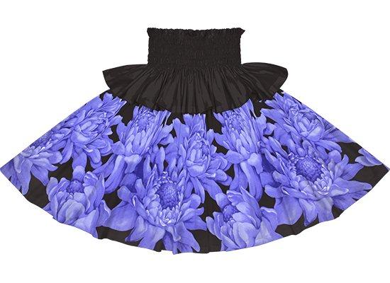 【フリルパウスカート】青と黒のトーチジンジャー大柄 frpau-2776BLBK