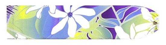 紫のパウスカートケース ティアレ・レフア・グラデーション柄 pcase-2773PPPP【メール便可】★オーダーメイド