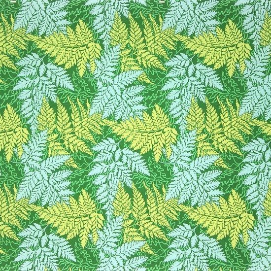 緑のハワイアンファブリック パラパライ柄 fab-2775GN 【4yまでメール便可】