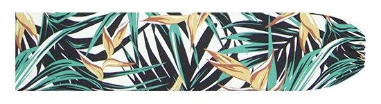 黒のパウスカートケース ヘリコニア・ヤシ柄 pcase-2777BK【メール便可】★オーダーメイド