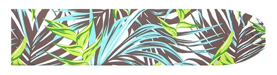 茶色のパウスカートケース ヘリコニア・ヤシ柄 pcase-2777BR【メール便可】★オーダーメイド