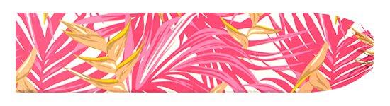 ピンクのパウスカートケース ヘリコニア・ヤシ柄 pcase-2777Pi【メール便可】★オーダーメイド【TS】