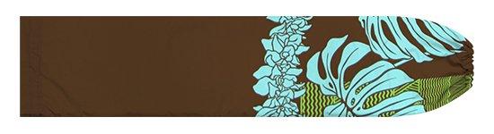 茶色のパウスカートケース モンステラ・シンビジウム・カヒコ柄 pcase-2778BR【メール便可】★オーダーメイド