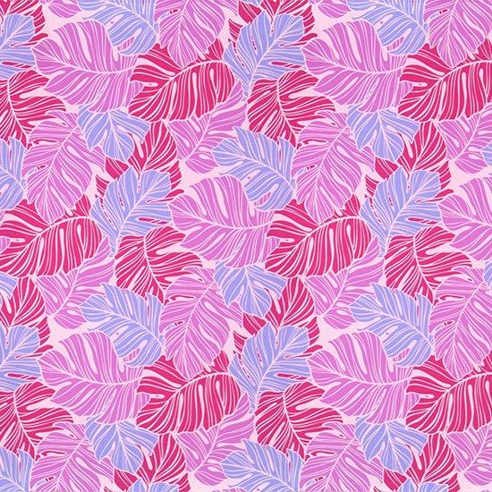 ピンクのハワイアンファブリック モンステラ柄 fab-2779Pi 【4yまでメール便可】