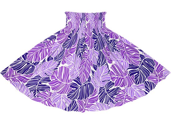 紫のパウスカート モンステラ柄 spau-2779PP