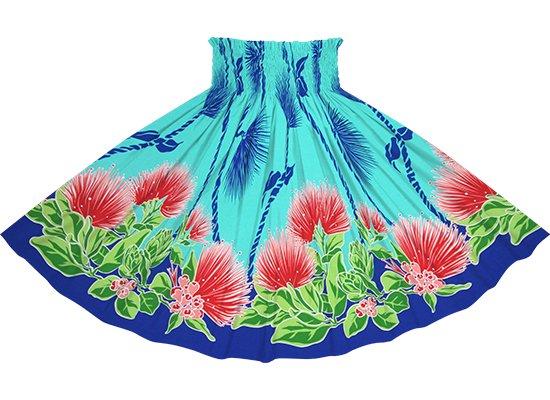 水色のパウスカート レフア・ティリーフレイ柄 spau-2780AQ