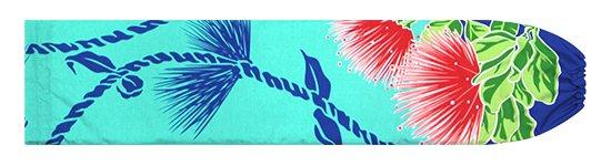 水色のパウスカートケース レフア・ティリーフレイ柄 pcase-2780AQ【メール便可】★オーダーメイド
