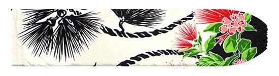クリーム色と黒のパウスカートケース レフア・ティリーフレイ柄 pcase-2780CRBK【メール便可】★オーダーメイド