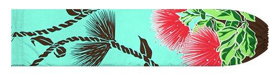 ヒスイ色のパウスカートケース レフア・ティリーフレイ柄 pcase-2780JD【メール便可】★オーダーメイド