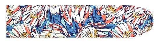 青とオレンジのパウスカートケース プロテア柄 pcase-2781BLOR【メール便可】★オーダーメイド