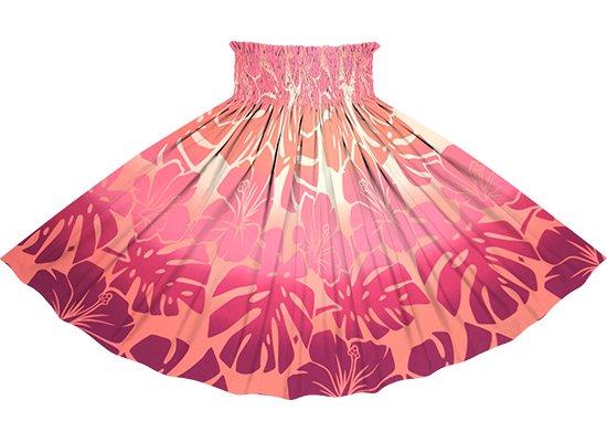 ピンクのパウスカート ハイビスカス・モンステラ・グラデーション柄 sprm-2769Pi 75cm 4本ゴム 【既製品】