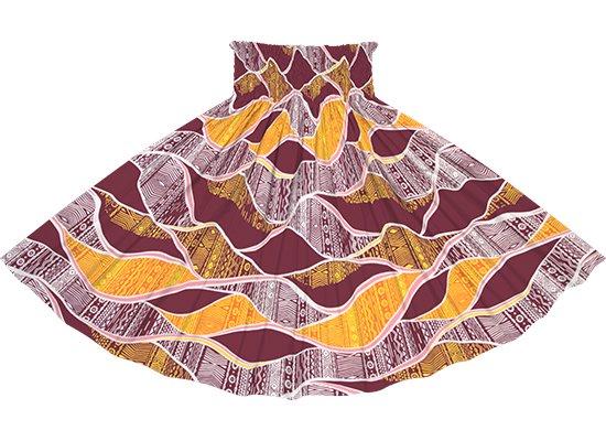 紫のパウスカート カヒコ柄 spau-rm-2772PP 75cm 4本ゴム 【既製品】