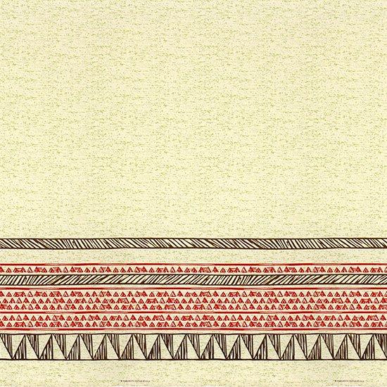 ベージュのハワイアンファブリック カヒコ・ボーダー柄 fab-2782BG 【4yまでメール便可】