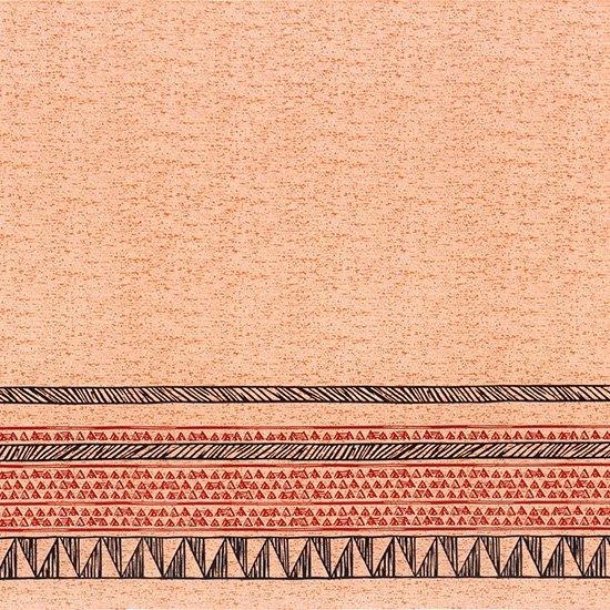 ピンクのハワイアンファブリック カヒコ・ボーダー柄 fab-2782Pi 【4yまでメール便可】