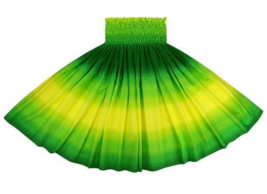 黄色と緑のパウスカート グラデーション柄 2270YWGN 68cm 4本ゴム ロック仕上げ【既製品】