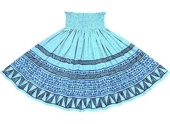 青のパウスカート カヒコ・ボーダー柄 spau-2782BL