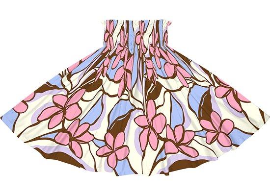 茶色とピンクのパウスカート プルメリア柄 spau-2783BRPi