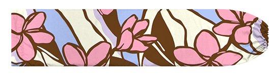茶色とピンクのパウスカートケース プルメリア柄 pcase-2783BRPi【メール便可】★オーダーメイド