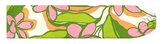 緑とピンクのパウスカートケース プルメリア柄 pcase-2783GNPi【メール便可】★オーダーメイド
