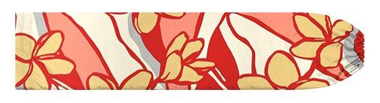 赤とベージュのパウスカートケース プルメリア柄 pcase-2783RDBG【メール便可】★オーダーメイド