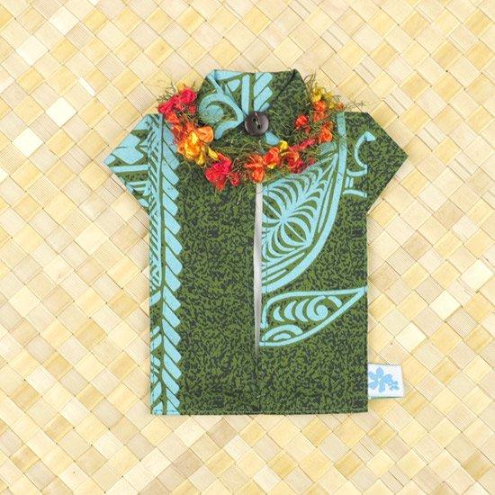 アロハシャツポケットティッシュケース フラワーレイ 緑 tsc-aloha-f-GN【メール便可】