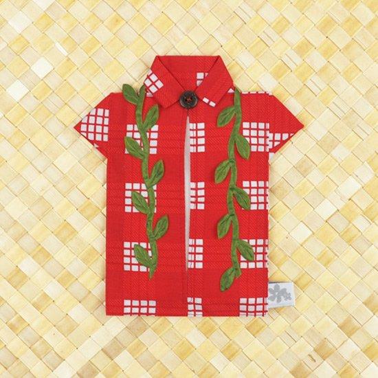 アロハシャツポケットティッシュケース マイレレイ 赤C tsc-aloha-m-RD-C【メール便可】