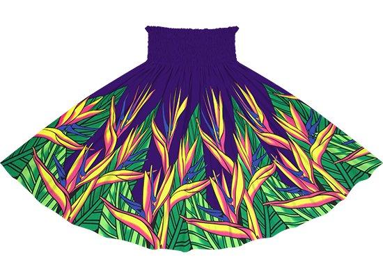 紫のパウスカート バードオブパラダイス柄 spau-2784PP
