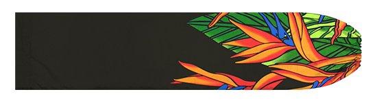 黒のパウスカートケース バードオブパラダイス柄 pcase-2784BK【メール便可】★オーダーメイド