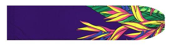 紫のパウスカートケース バードオブパラダイス柄 pcase-2784PP【メール便可】★オーダーメイド