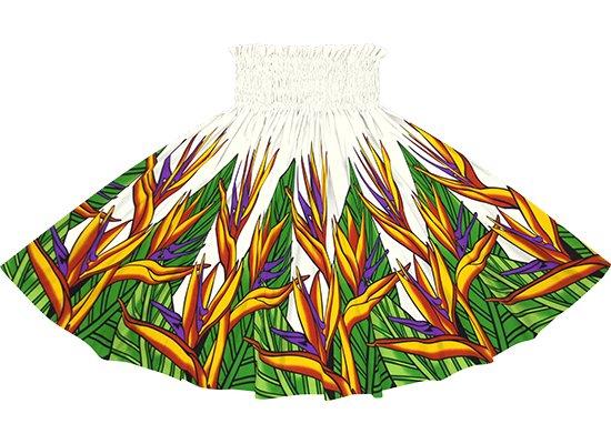 クリーム色のパウスカート バードオブパラダイス柄 sprm-2784CR 75cm 4本ゴム 【既製品】
