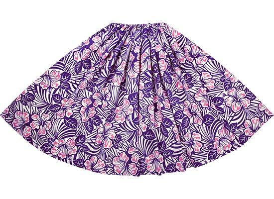 紫のパウスカート ハイビスカス柄 sprm-2696PP 80cm 1本ゴム 特殊ピッチ 【既製品】