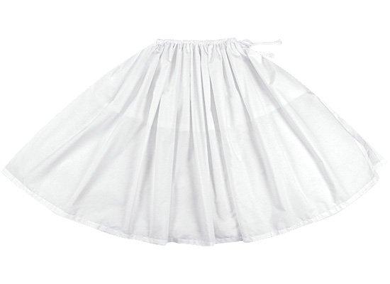 【紐パウスカート】 ホワイトの無地パウスカート himo-white 77cm 1本紐 特殊ピッチ 【既製品】