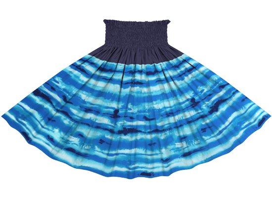 【切り替えパウスカート】 青のイリカイ柄とネイビーの無地 ykpau-2774BL