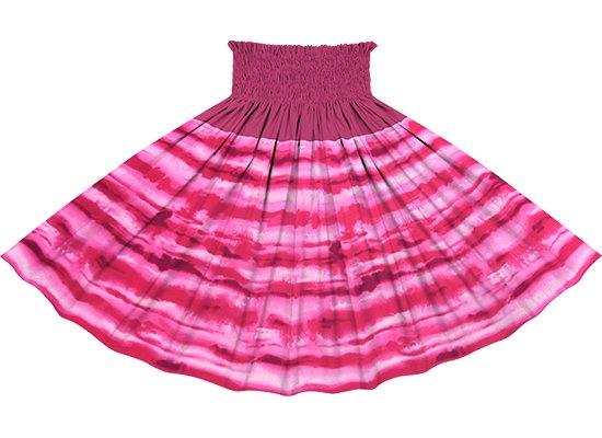 【切り替えパウスカート】 ピンクのイリカイ柄とフューシャの無地 ykpau-2774Pi
