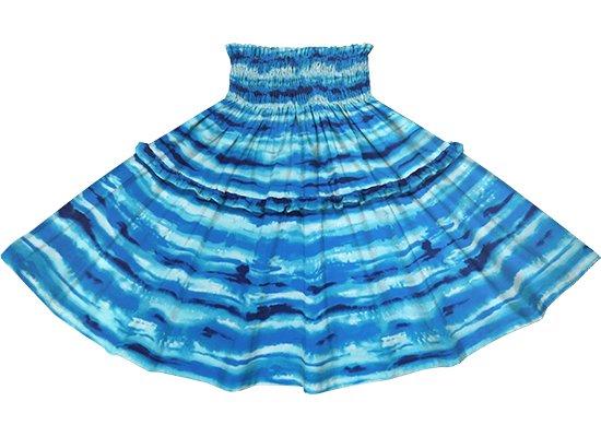 【ティアードパウスカート】 青のイリカイ柄 tipau-2774BL