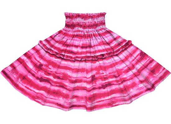 【ティアードパウスカート】 ピンクのイリカイ柄 tipau-2774Pi