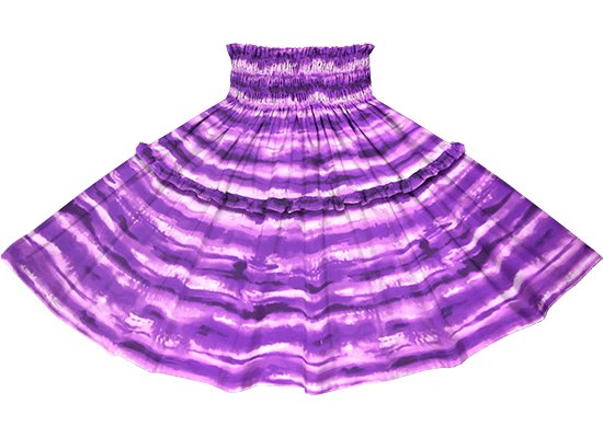 【ティアードパウスカート】 紫のイリカイ柄 tipau-2774PP