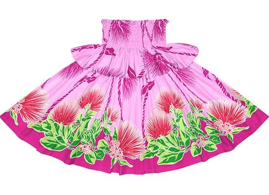 【フリルパウスカート】ピンクのレフア・ティリーフレイ柄 frpau-2780Pi