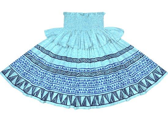 【フリルパウスカート】青のカヒコ・ボーダー柄 frpau-2782BL