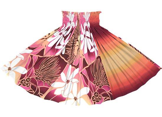 【たて切り替えパウスカート】紫とピンクのティアレ・レフア・グラデーション柄とオレンジと紫のグラデーション vypau-2773PPPi