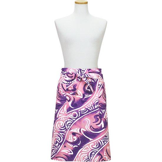 ギャルソンエプロン ピンクと紫 トライバル柄 aprn-APG2656PiPP 既製品【メール便可】