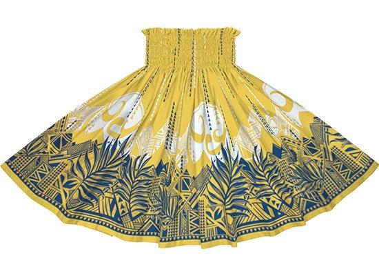 黄色のパウスカート ヤシ・オヘカパラ柄 sprm-2750YW 69cm 4本ゴム【既製品】