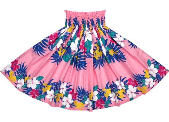 【蔵出し】ピンクのパウスカート ハイビスカス・プルメリア・ヤシ柄 2459Pi【NPS】